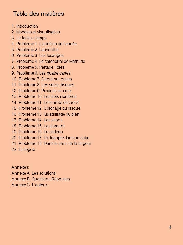Table des matières 1. Introduction 2. Modèles et visualisation