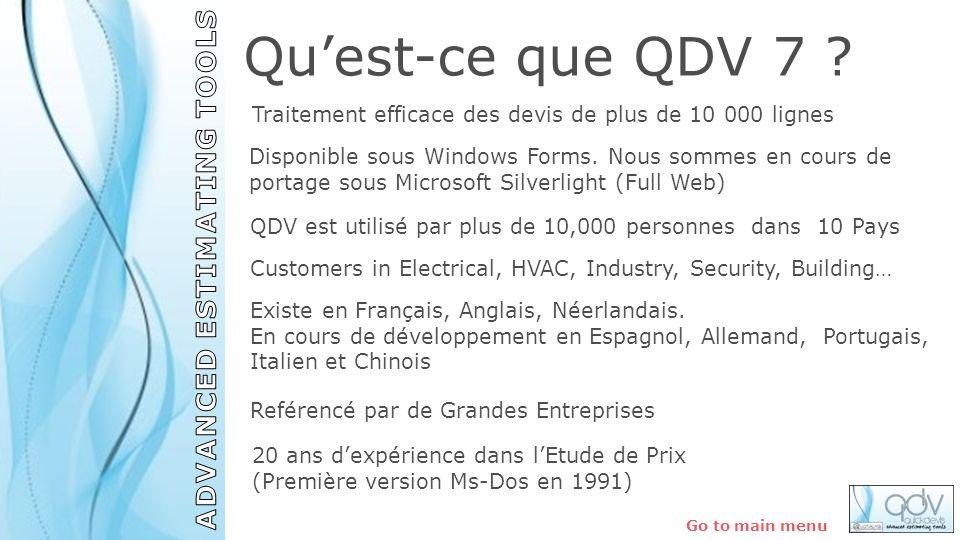 QDV est utilisé par plus de 10,000 personnes dans 10 Pays