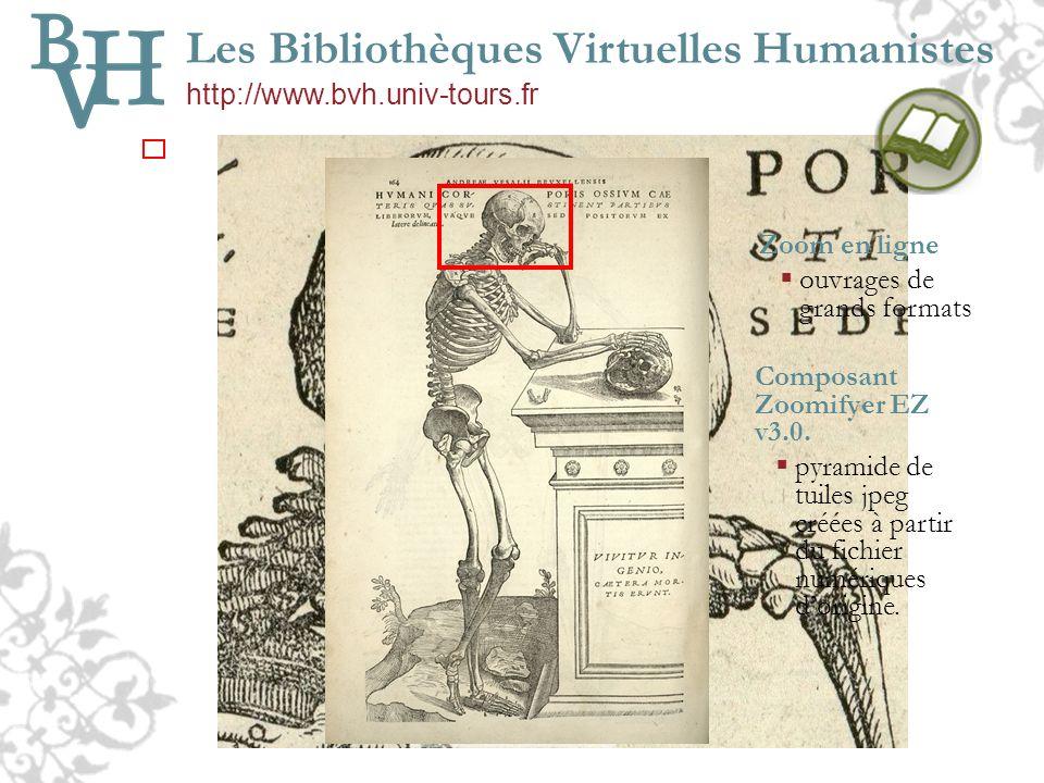 Les Bibliothèques Virtuelles Humanistes http://www.bvh.univ-tours.fr
