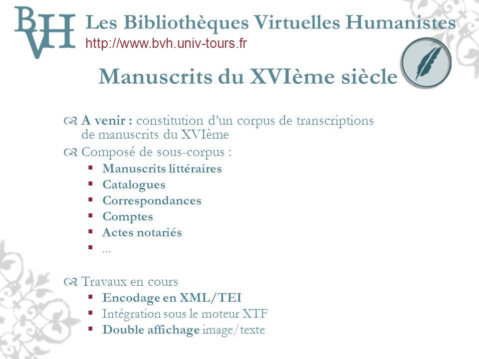 Manuscrits du XVIème siècle