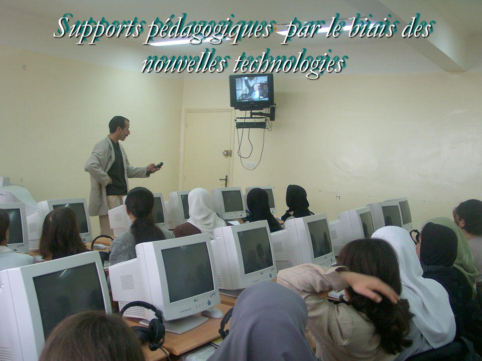 Supports pédagogiques par le biais des nouvelles technologies