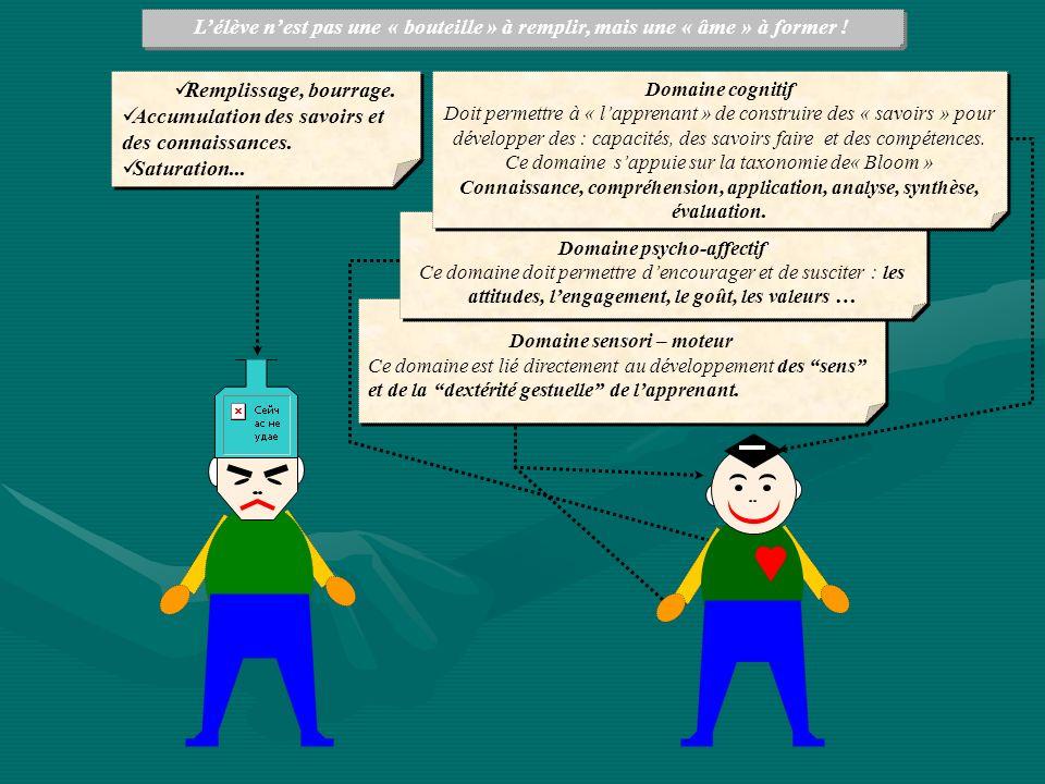 Domaine psycho-affectif Domaine sensori – moteur