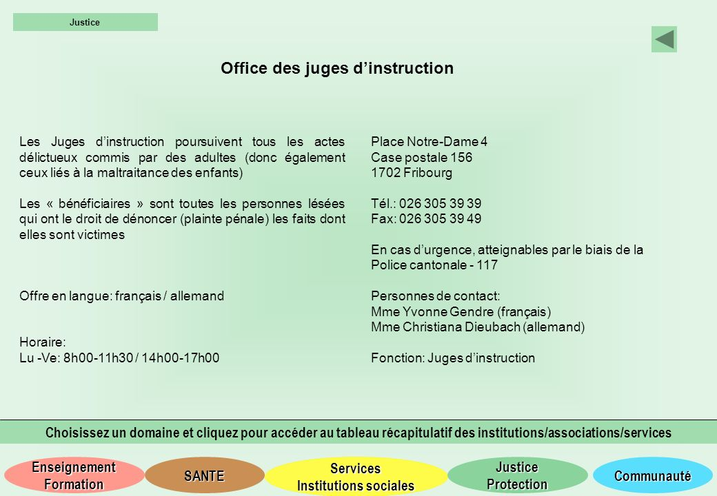 Office des juges d'instruction