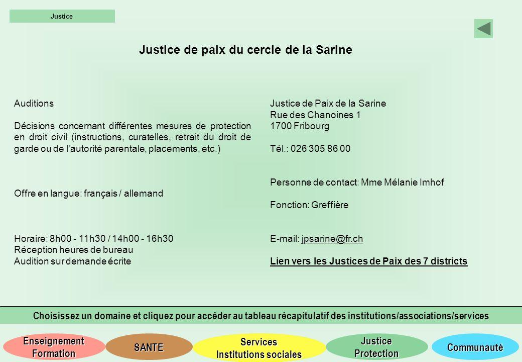 Justice de paix du cercle de la Sarine