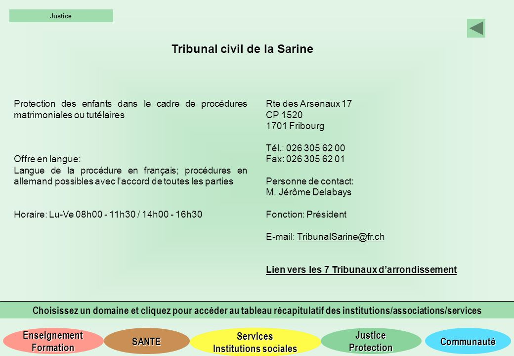 Tribunal civil de la Sarine