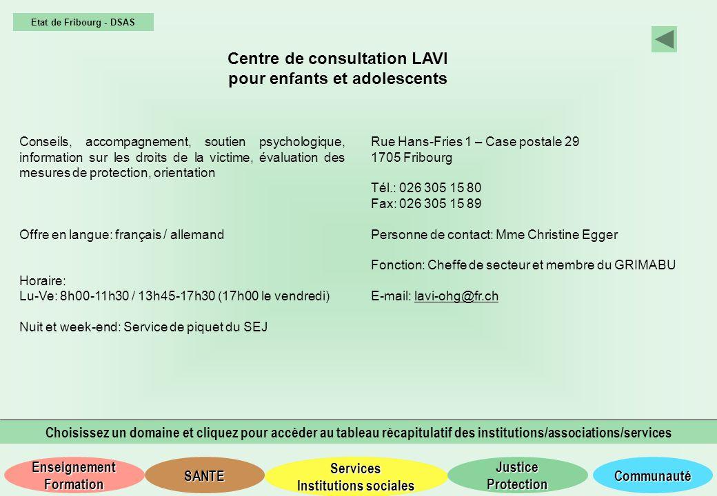 Centre de consultation LAVI pour enfants et adolescents