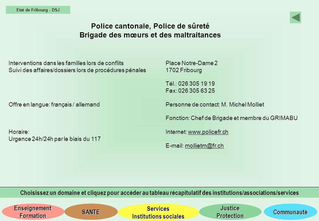 Police cantonale, Police de sûreté