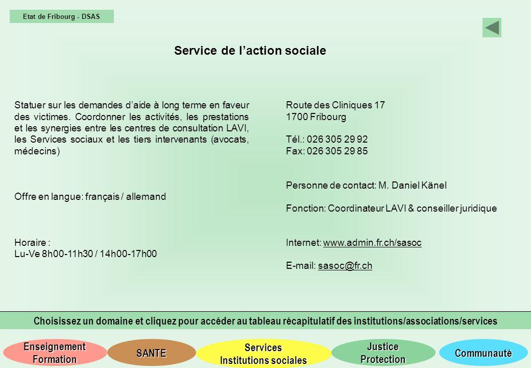 Service de l'action sociale