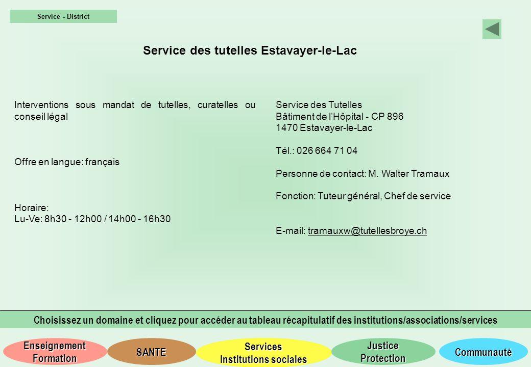 Service des tutelles Estavayer-le-Lac