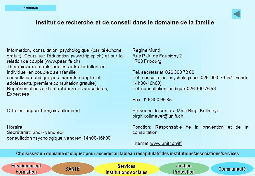 Institut de recherche et de conseil dans le domaine de la famille