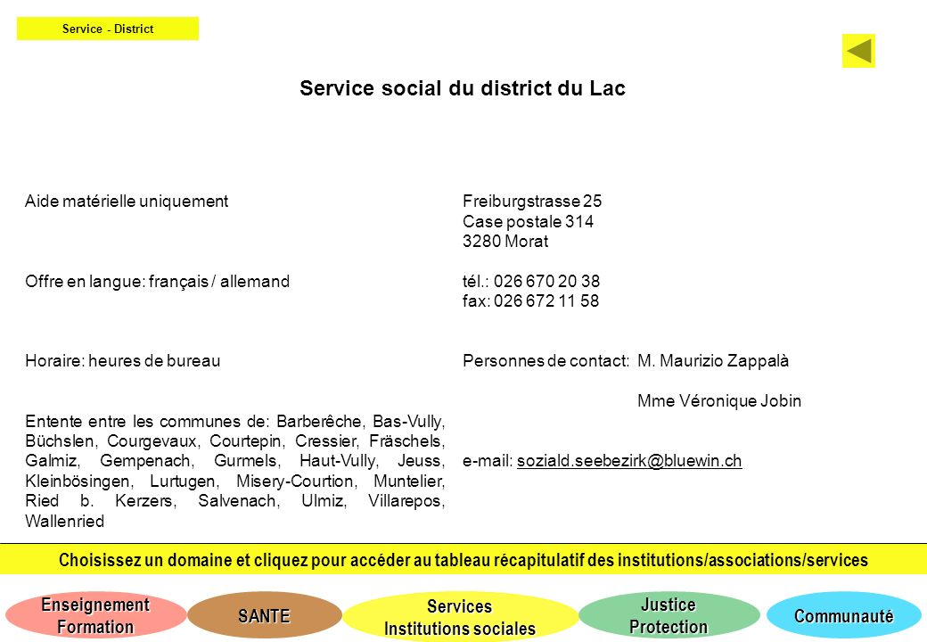 Service social du district du Lac
