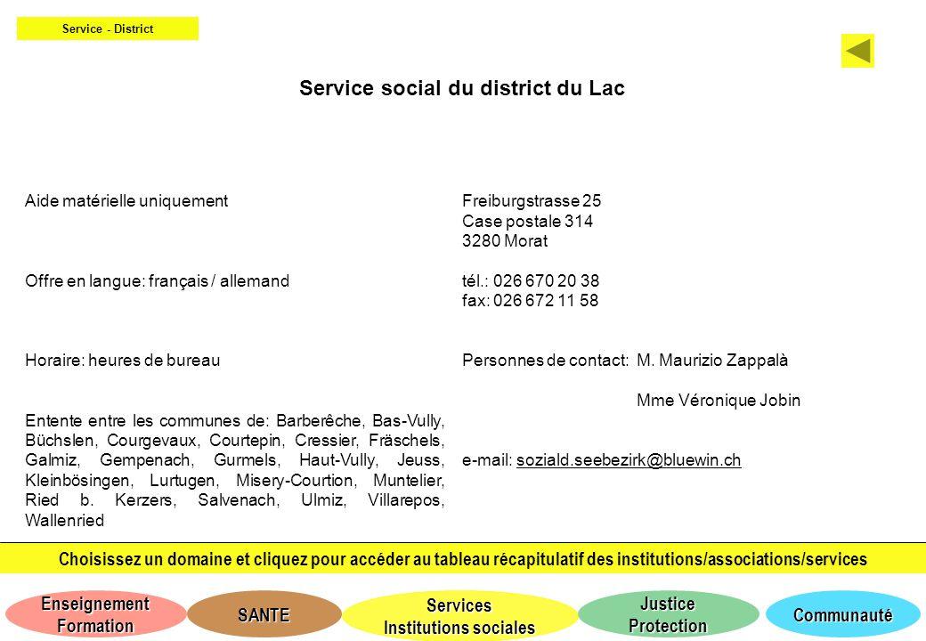 Service social du district du Lac