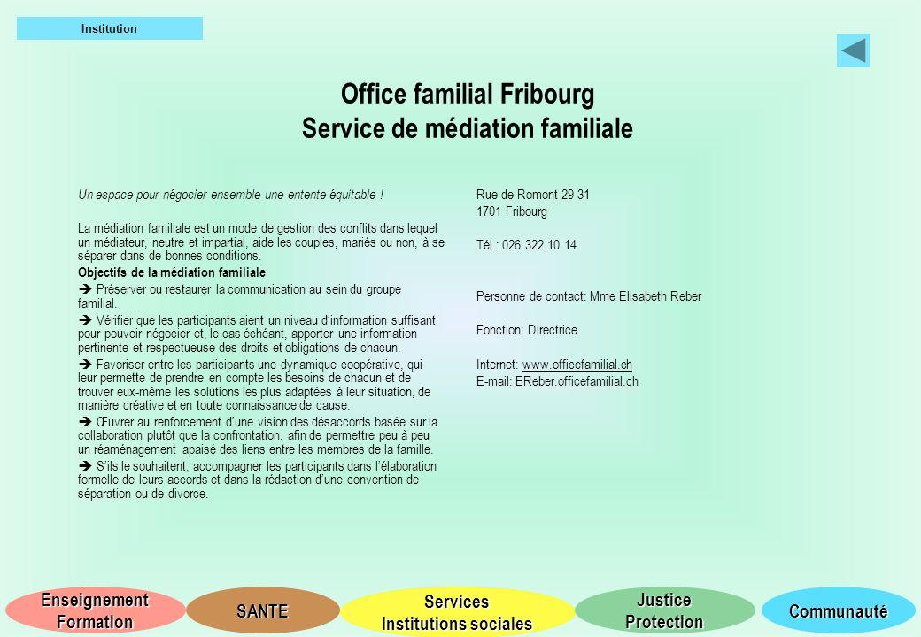 Office familial Fribourg Service de médiation familiale