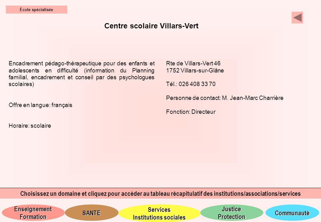 Centre scolaire Villars-Vert