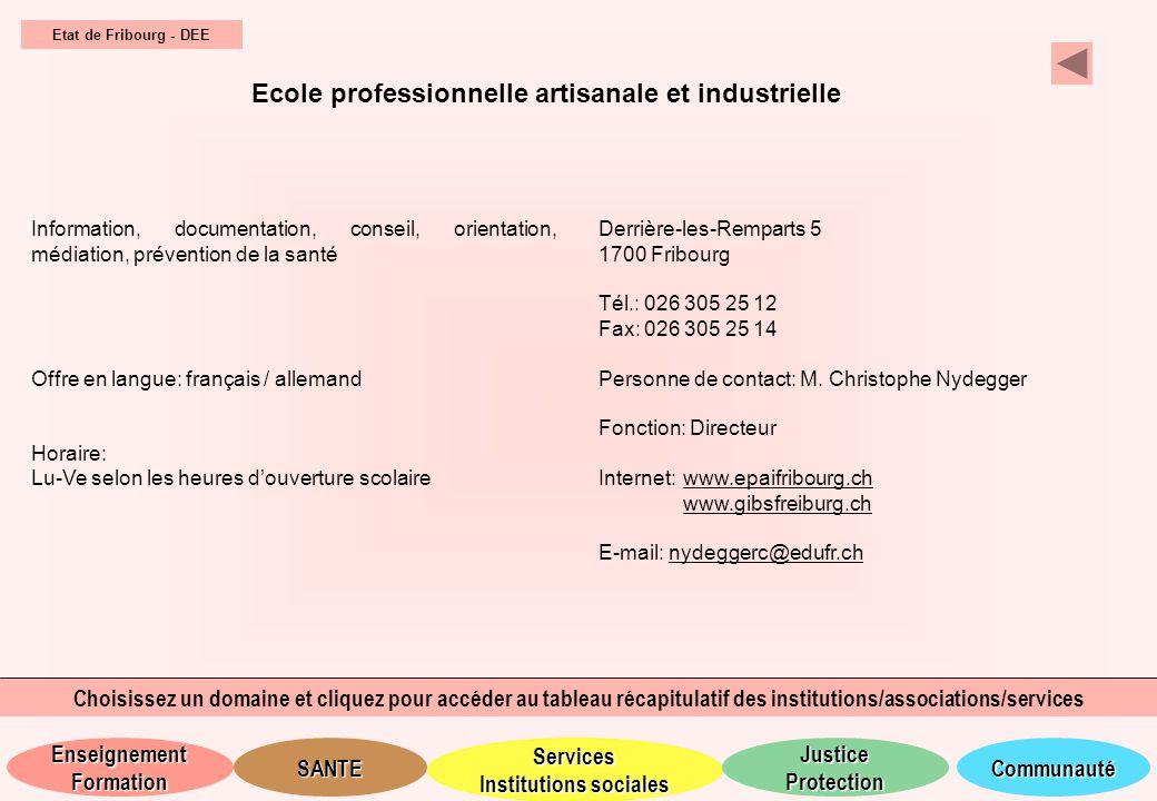 Ecole professionnelle artisanale et industrielle