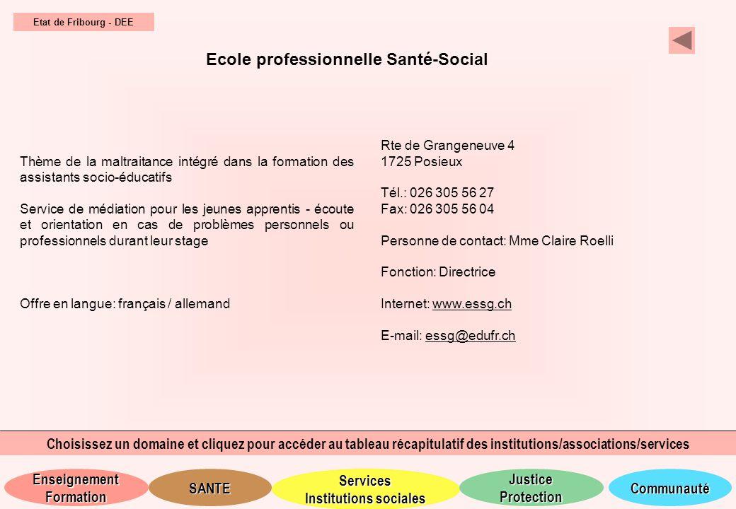 Ecole professionnelle Santé-Social
