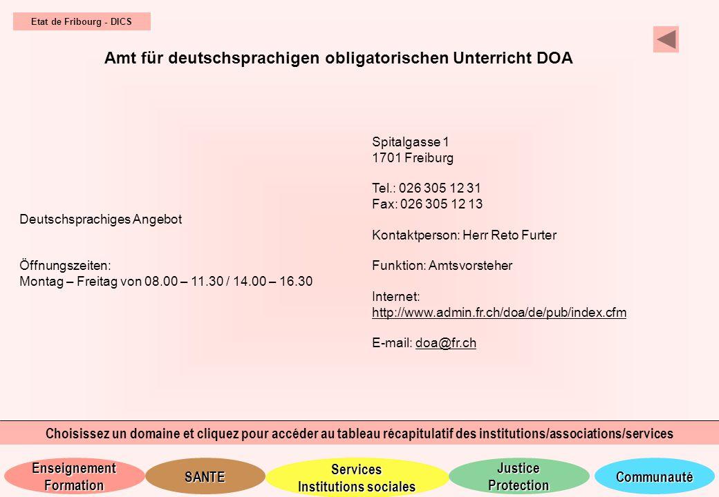 Amt für deutschsprachigen obligatorischen Unterricht DOA
