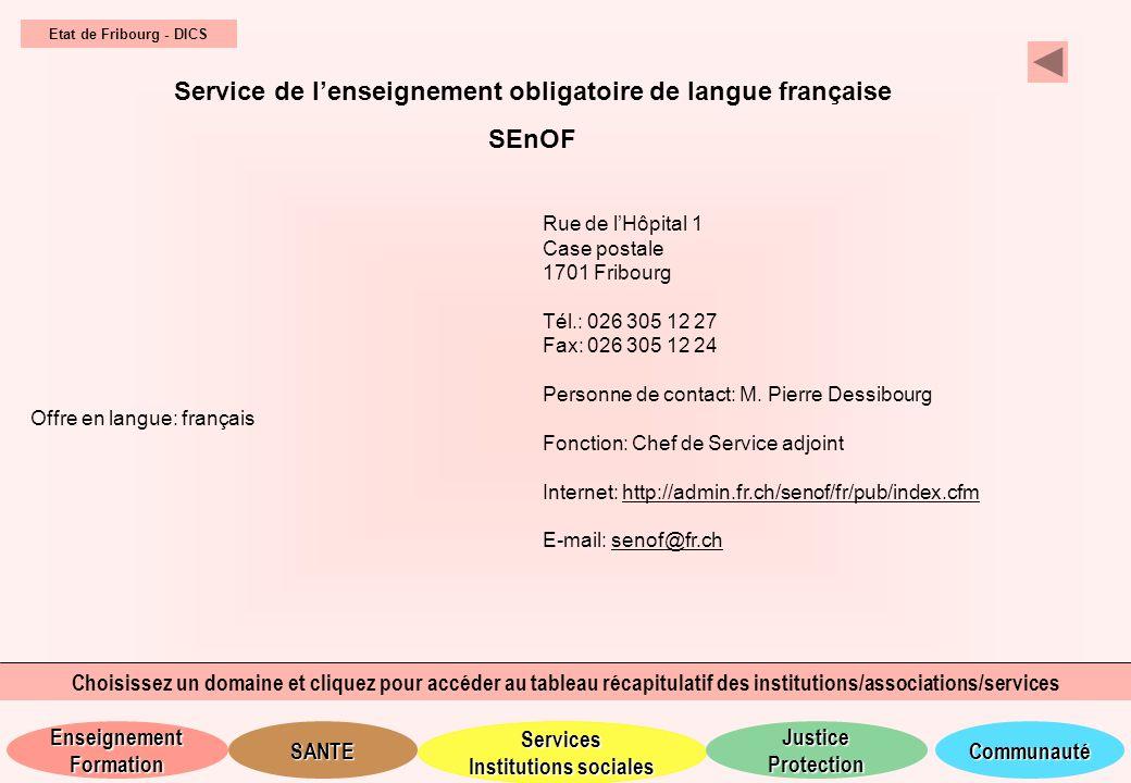 Service de l'enseignement obligatoire de langue française