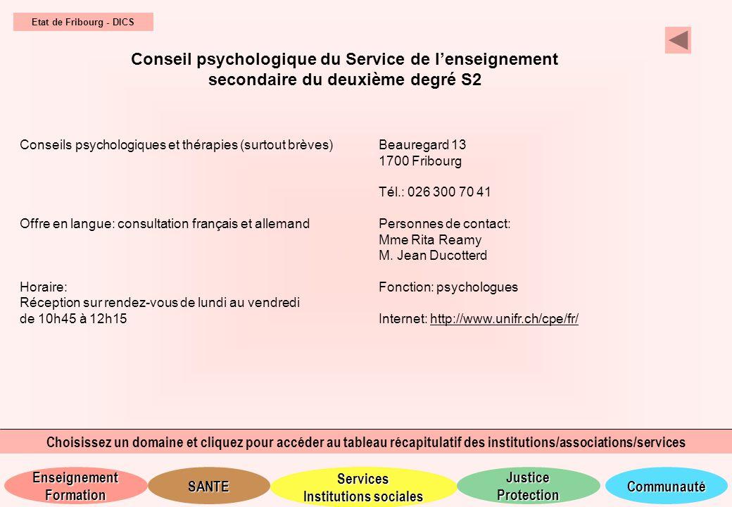 Conseil psychologique du Service de l'enseignement
