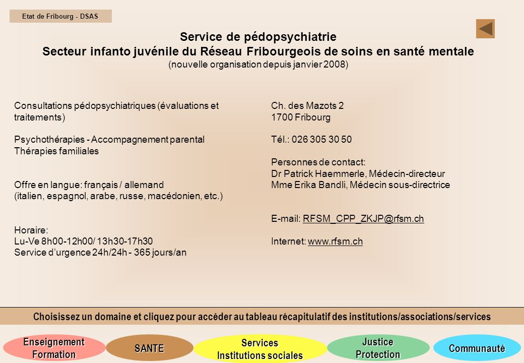Service de pédopsychiatrie