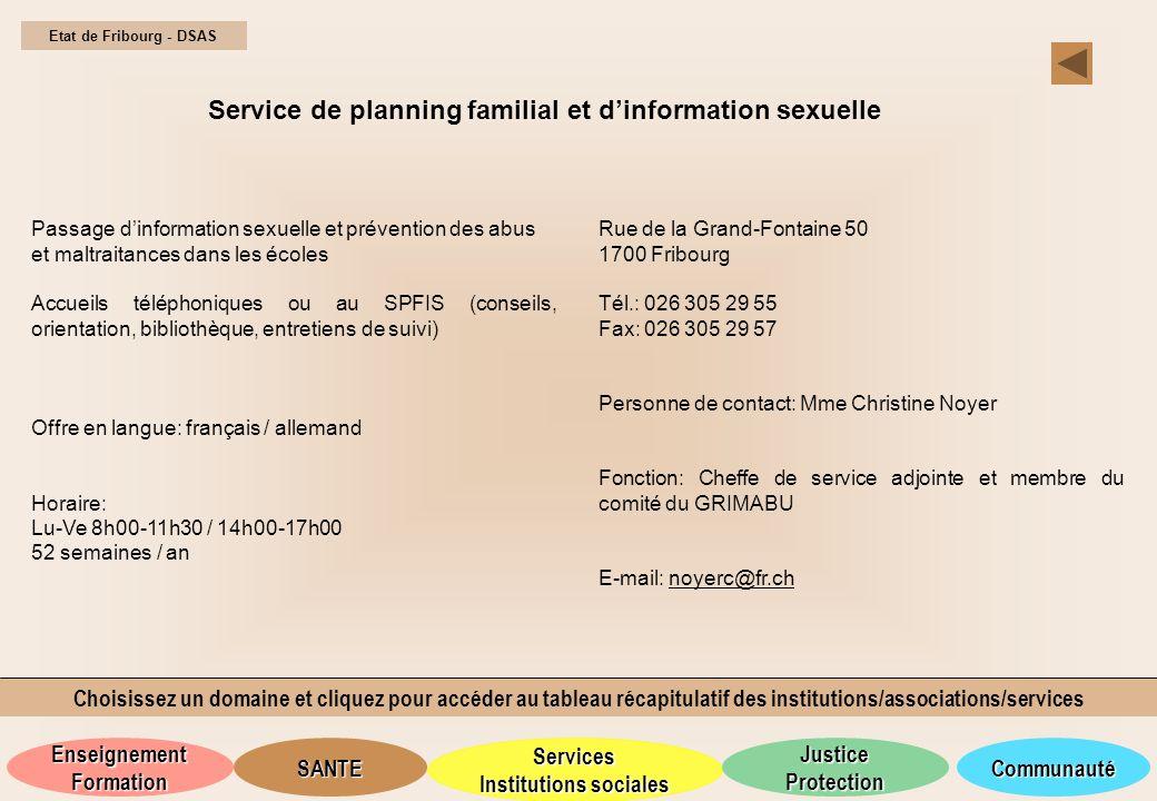 Service de planning familial et d'information sexuelle