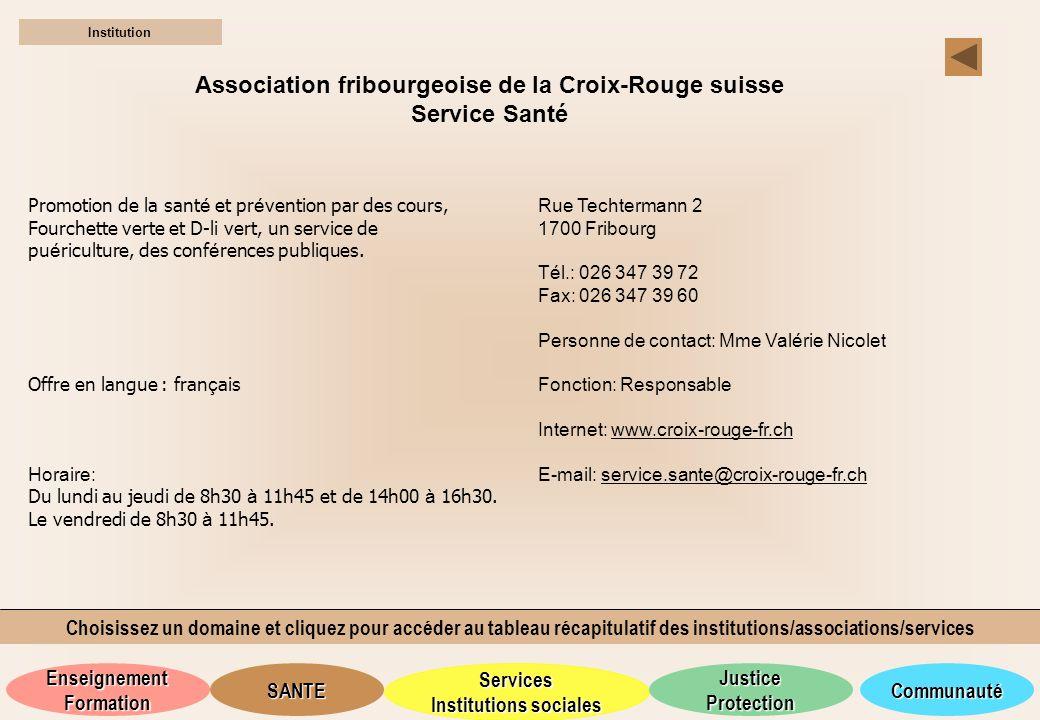 Association fribourgeoise de la Croix-Rouge suisse