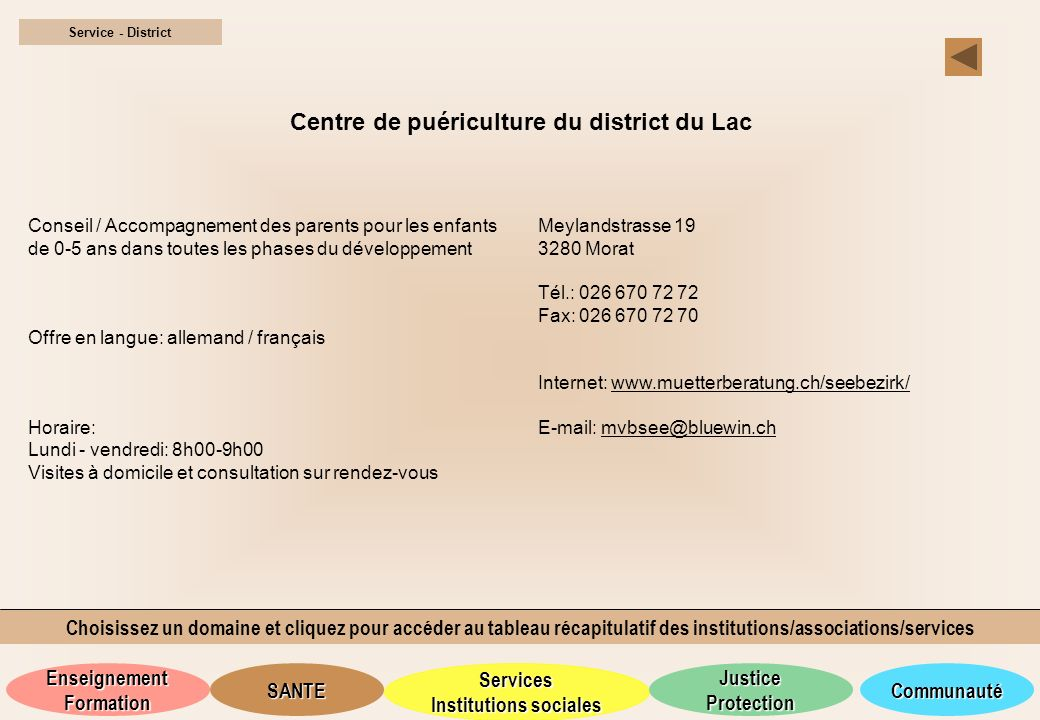 Centre de puériculture du district du Lac