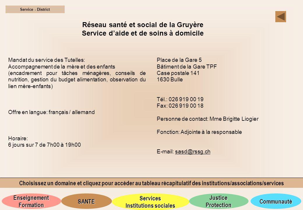 Réseau santé et social de la Gruyère