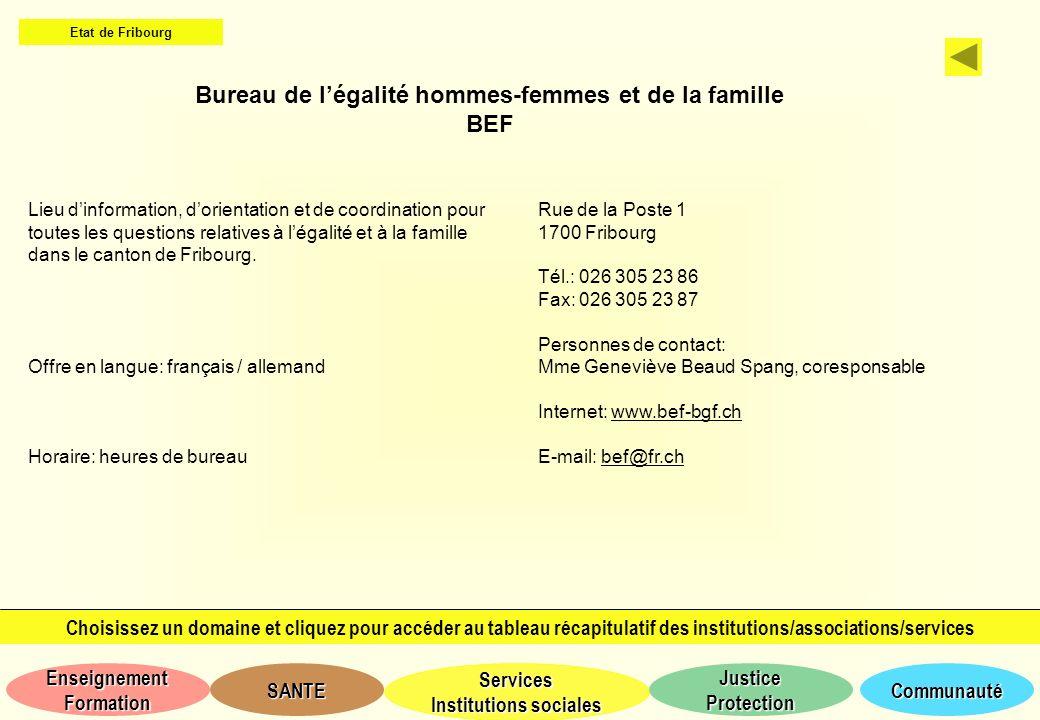 Bureau de l'égalité hommes-femmes et de la famille BEF