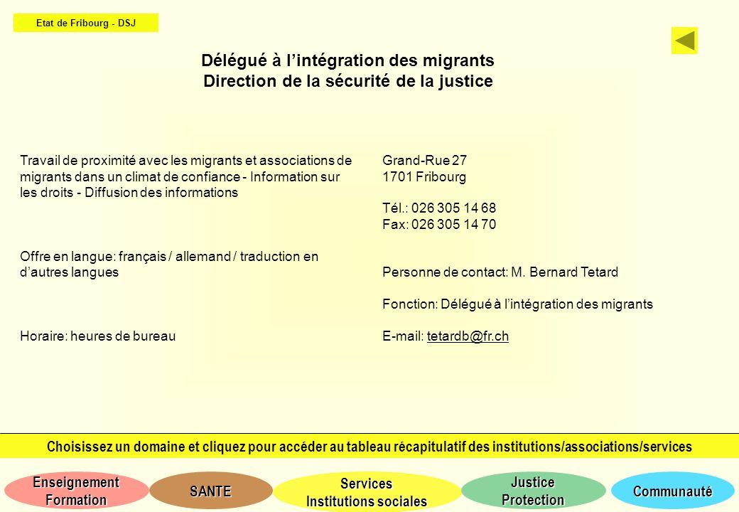 Délégué à l'intégration des migrants
