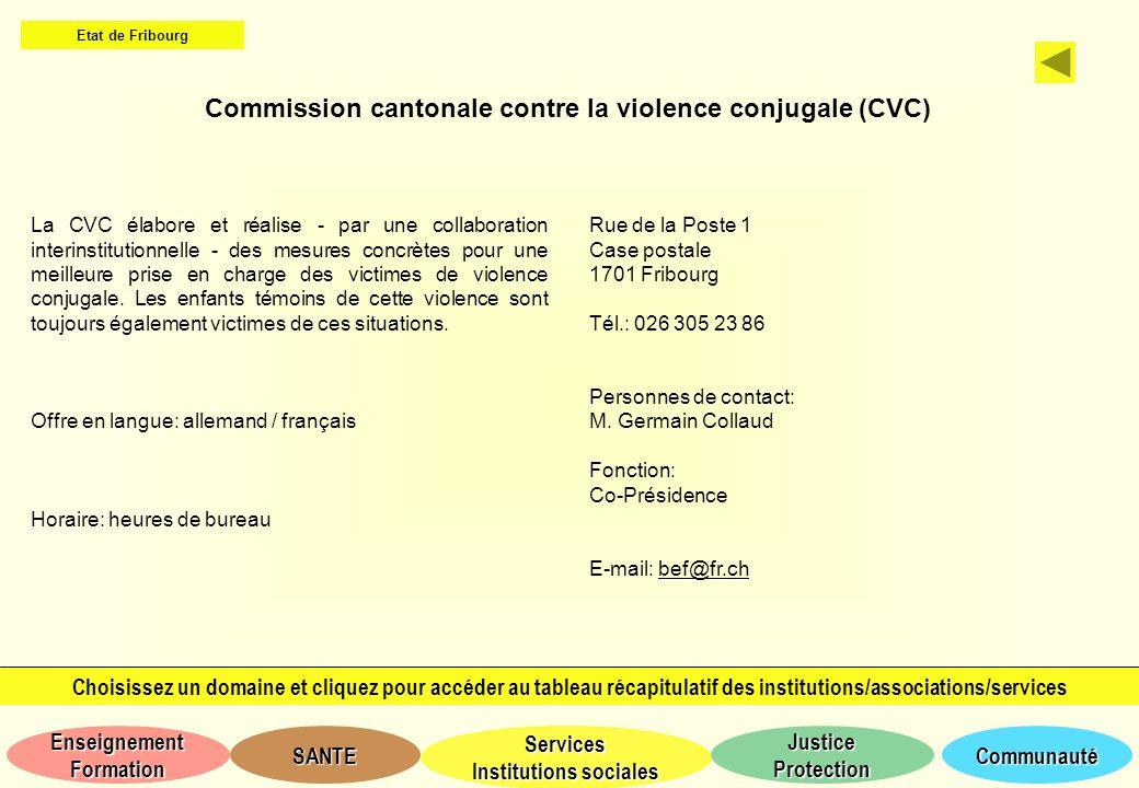 Commission cantonale contre la violence conjugale (CVC)