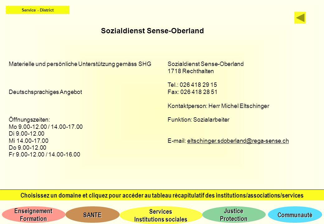 Sozialdienst Sense-Oberland