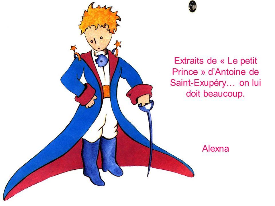 Extraits de « Le petit Prince » d'Antoine de Saint-Exupéry… on lui doit beaucoup. Alexna