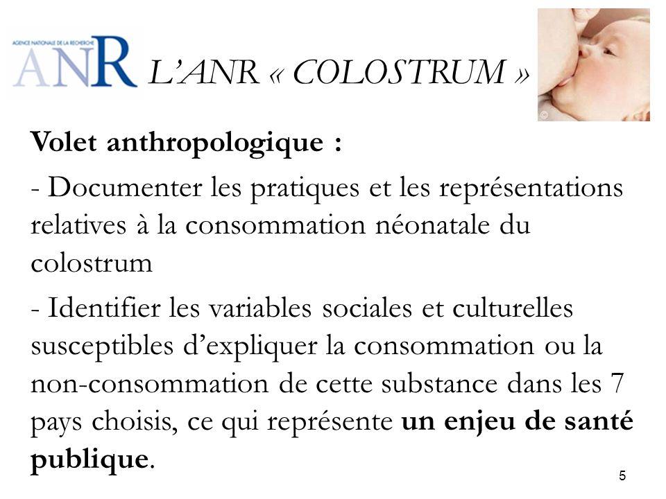 L'ANR « COLOSTRUM »