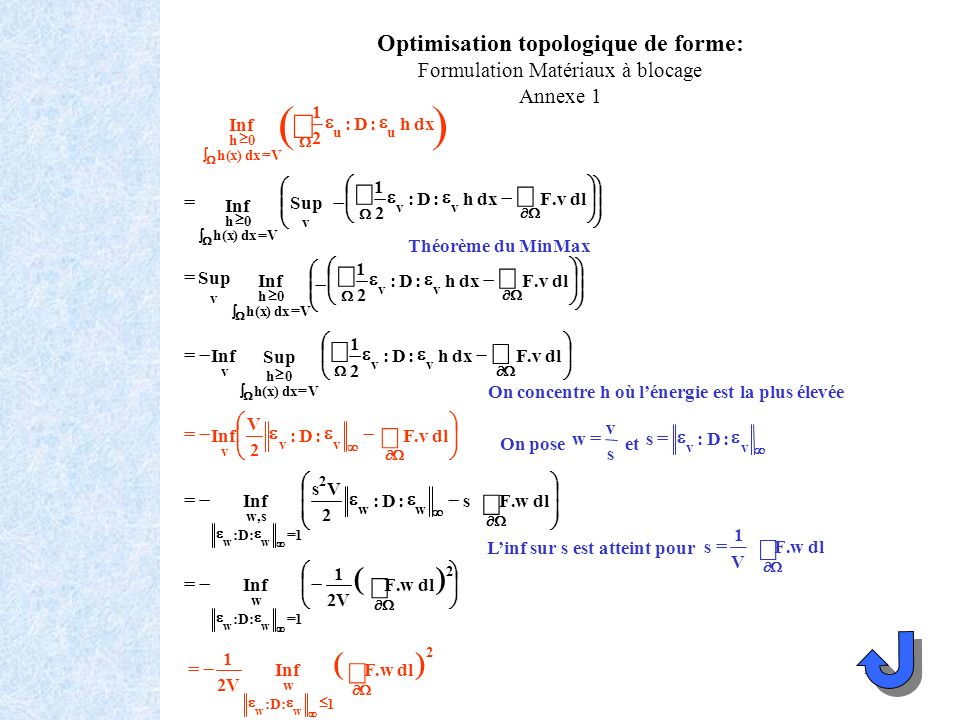 Optimisation topologique de forme: