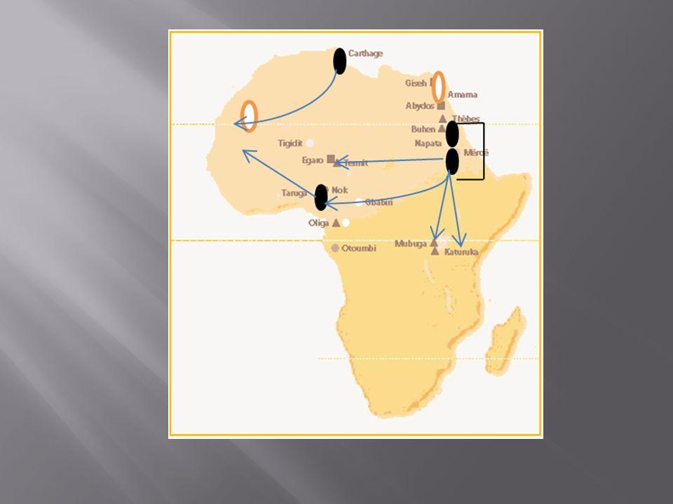 La carte de la diffusion du fer actuellement connue