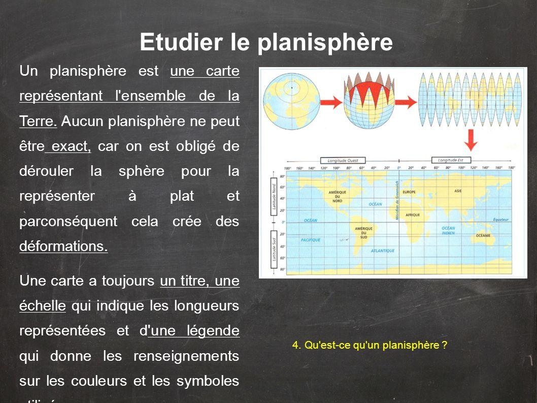 Etudier le planisphère