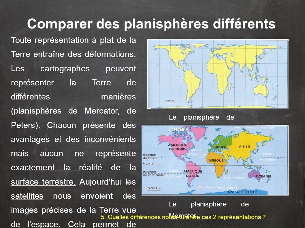 Comparer des planisphères différents