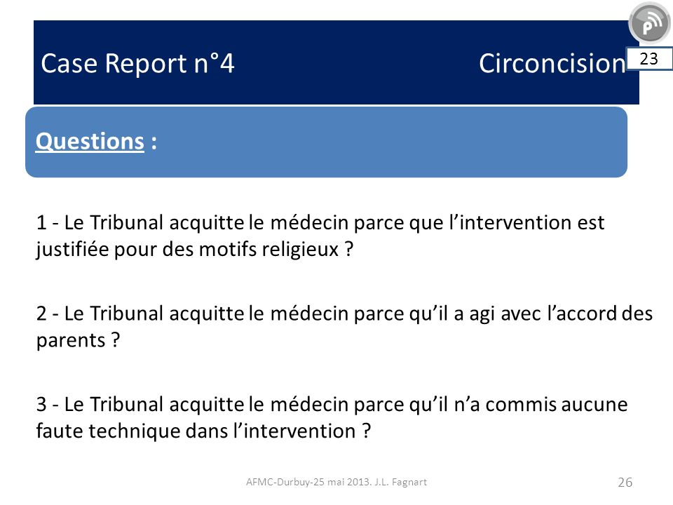 Case Report n°4 Circoncision