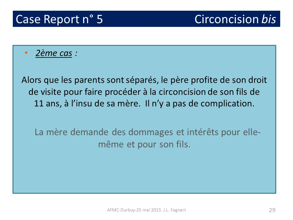 Case Report n° 5 Circoncision bis