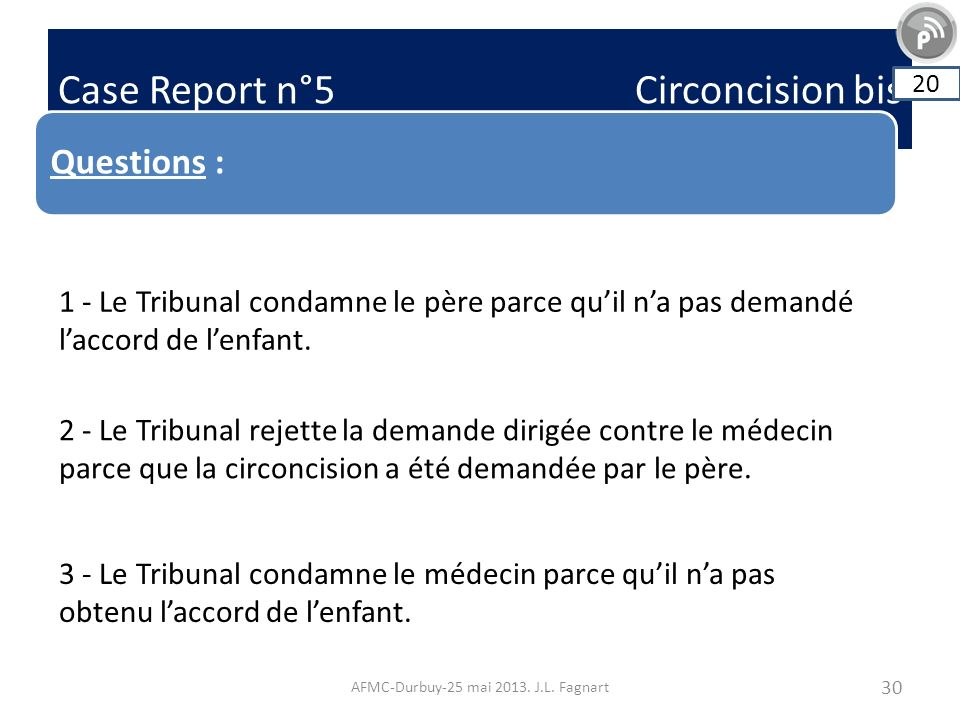 Case Report n°5 Circoncision bis