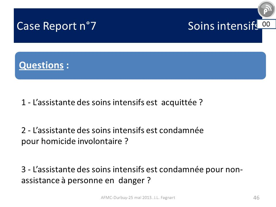 Case Report n°7 Soins intensifs