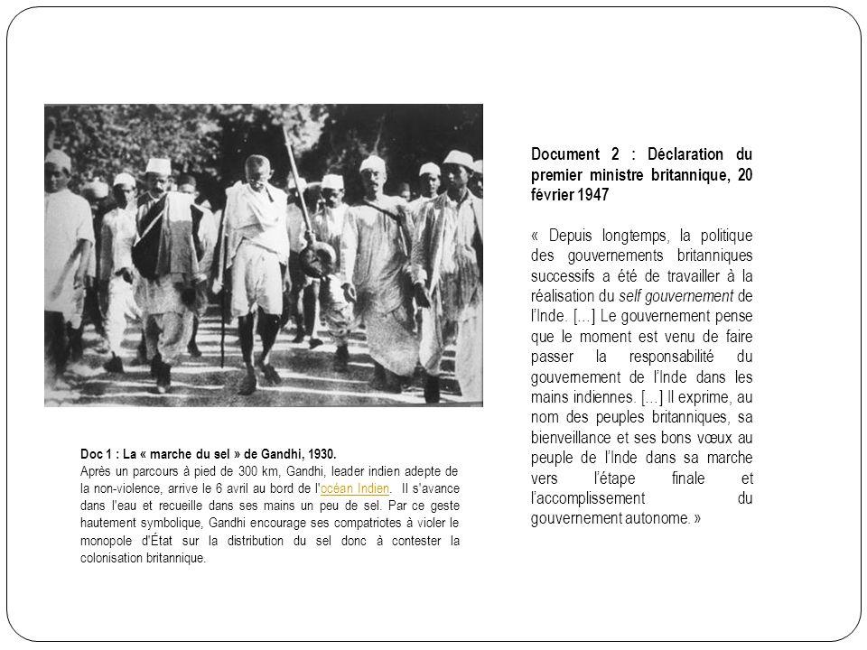 Document 2 : Déclaration du premier ministre britannique, 20 février 1947