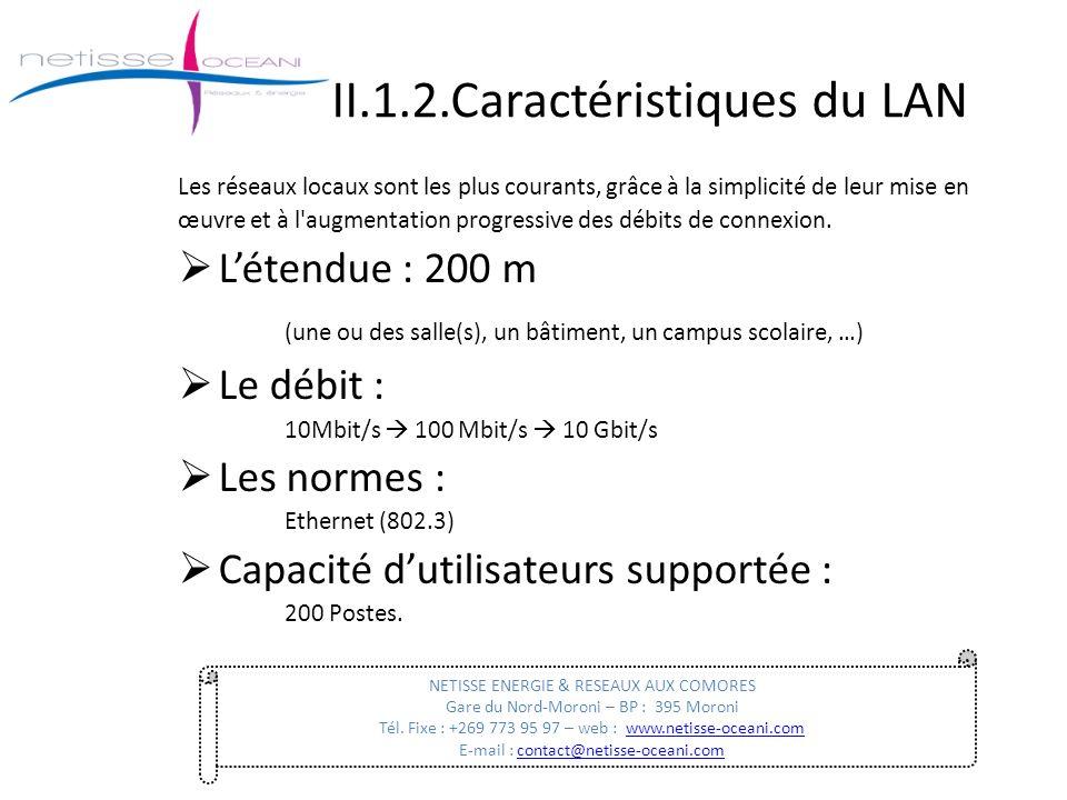 II.1.2.Caractéristiques du LAN