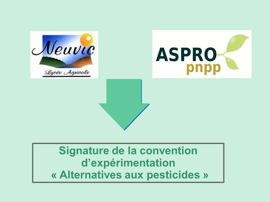 Signature de la convention d'expérimentation