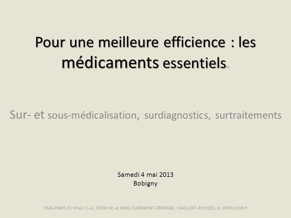Sur- et sous-médicalisation, surdiagnostics, surtraitements
