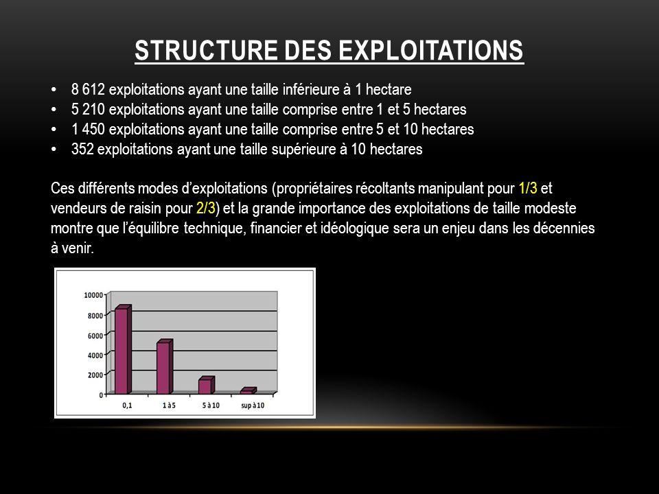 STRUCTURE DES EXPLOITATIONS