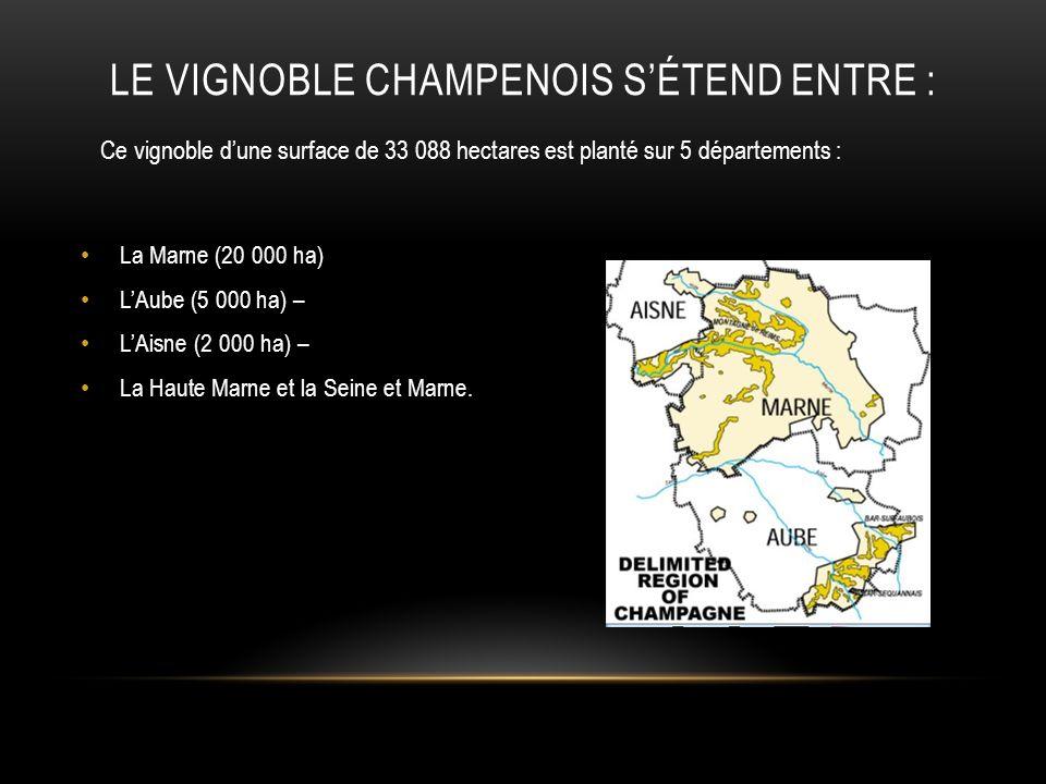 Le Vignoble Champenois s'étend entre :
