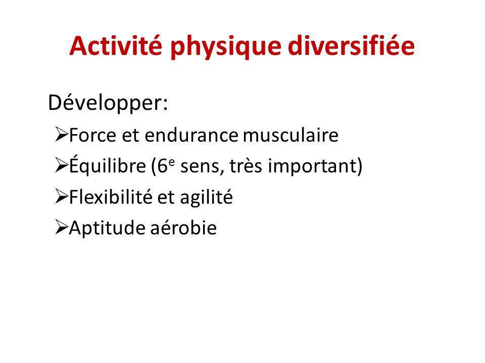 Activité physique diversifiée