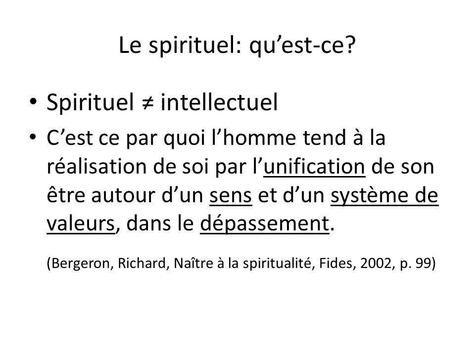 Le spirituel: qu'est-ce